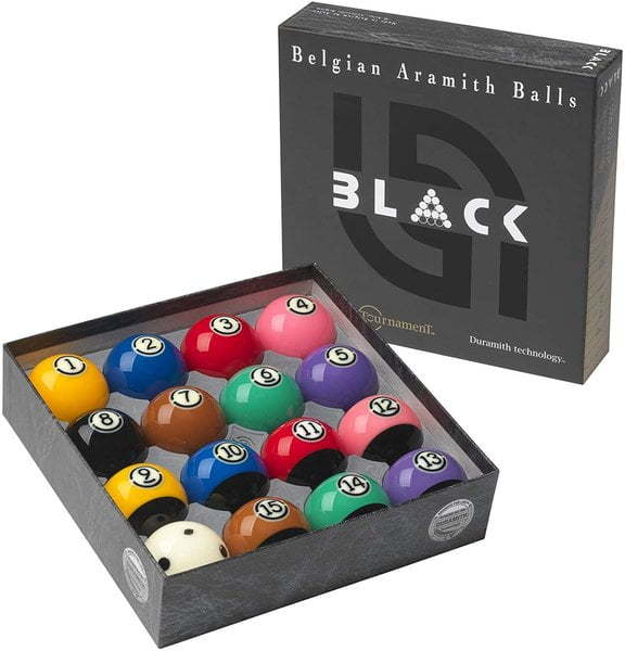 aramith black tournament pool balls