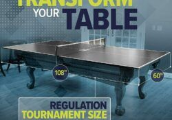 table tennis conversion top with foam backing