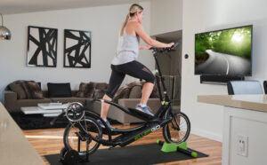 Riding An ElliptiGO Elliptical Bike Trainer