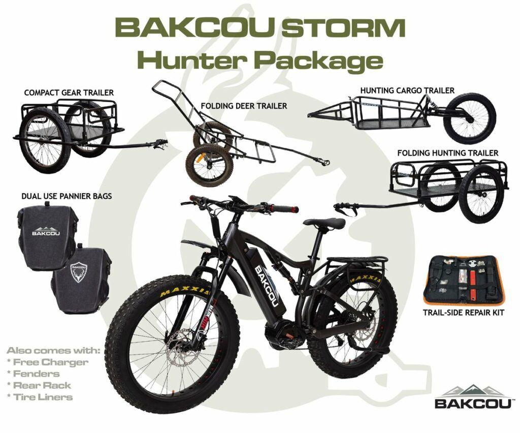 bakcou storm electric bike hunter package